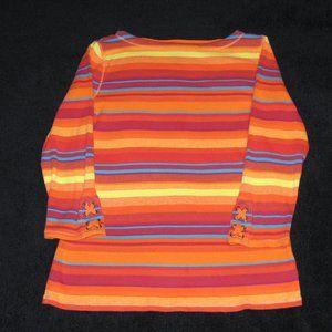 RALPH LAUREN - Multi striped top